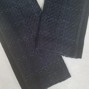 Tory Burch Pants - Tory Burch Blue Drew Glazed Tweed Tuxedo Pants